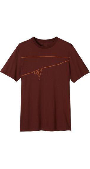 Prana Climb The Line T-Shirt Men Dark Umber